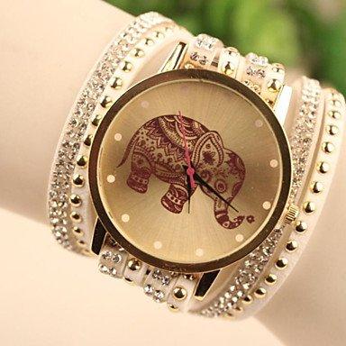 Relojes Hermosos, Reloj del estilo de Corea del elefante al sur de las mujeres de la moda ( Color : Blanco , Talla : Para Mujer-Una Talla )