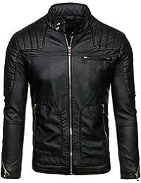 BOLF – Veste sans capuche – Faux cuir – Fermeture éclair – FEIFA FASHION 9137 Homme [4D4]
