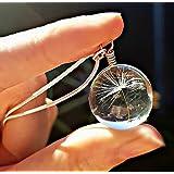 Regalo per la festa della mamma Catena in argento sterling Collana di tarassaco pendente CONFEZIONE REGALO - collana da sposa gioielli damigella d'onore gioielli di compleanno