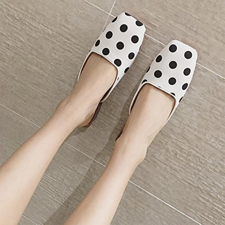 QIANDA Slipper Mujer Zapatos De Verano Diseño De Punto De Onda Playa Zapato Plano Caucho Suave Resistente Al Desgaste...