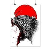 Panthère rouge Soleil Animal Animal Amusement Matte/Glacé Affiche A2 (60cm x 42cm) | Wellcoda