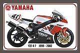 ComCard Yamaha YZF R7 1999-2002 105-160PS Motorrad, Motor Bike, Motorcycle Schild aus Blech, Metal Sign, tin