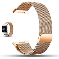 iFeeker Magnet Lock Milanese Loop Stainless Steel Bracelet Strap Watch Band for Fitbit Unisex Ionic Health and Fitness Smartwatch