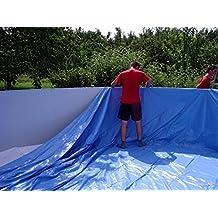 Auskleidung rund Ø 4,00x1,50m 0,8mm grau Poolfolie Innenhülle Ersatzfolie Pool