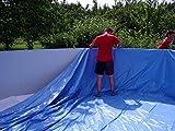 Poolinnenfolie blau Poolfolie geeignet für Stahlwandpools mit Ø 400 x 90 cm