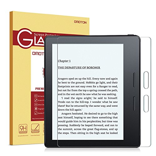 Kindle Oasis screen protector, OMOTON Tempered-Glass Protector with [9H Hardness] [Crystal Clear] [Scratch-Resistant] [No-Bubble Installation] for Kindle Oasis, Lifetime Warranty