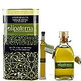 Kaltgepresstes Extra Natives (Virgin) Olivenöl aus Andalusien Olipaterna Säure 0,3 1A | 100% natürliches & reines Olivenöl für Feinschmecker | 5 L Kanister + 250 ml Glas + 100 ml Glas