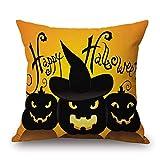 SEWORLD 2PC Halloween Kissenbezüge Leinen Sofa Kissenbezug Home Decor D-c