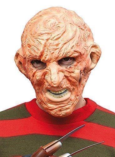 Freddie Krueger Gesichtsmaske Kostüm Draußen Zubehör Herren Unheimlich Verbrannt Man (Freddie Krüger Kostüme)