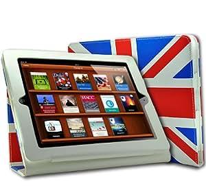 Phonedirectonline - Custodia in pelle con linguetta, motivo bandiera del Regno Unito, per Apple ipad 2
