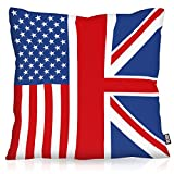 VOID USA Amerika Union Jack England Kissenbezug Kissenhülle Outdoor Indoor, Kissen Größe:80 x 80 cm