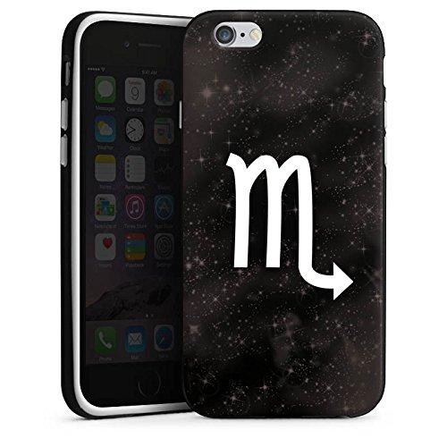 Apple iPhone 6 Housse Étui Silicone Coque Protection Étoiles Scorpion Signes du zodiaque Housse en silicone noir / blanc