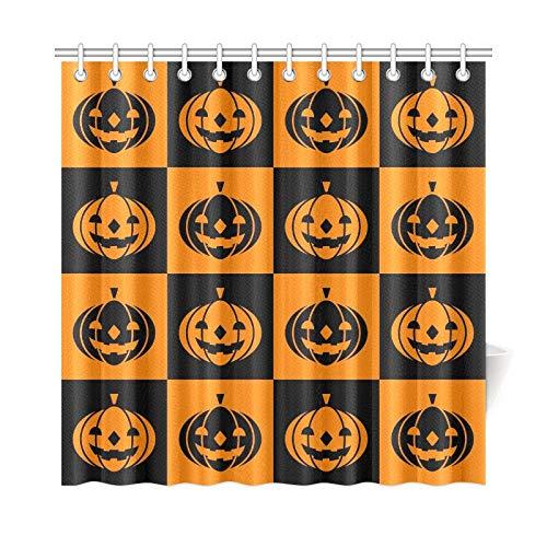 ad Vorhang Halloween Icons Polyester Stoff Wasserdicht Duschvorhang Für Badezimmer, 72X72 Zoll Duschvorhang Haken Enthalten ()