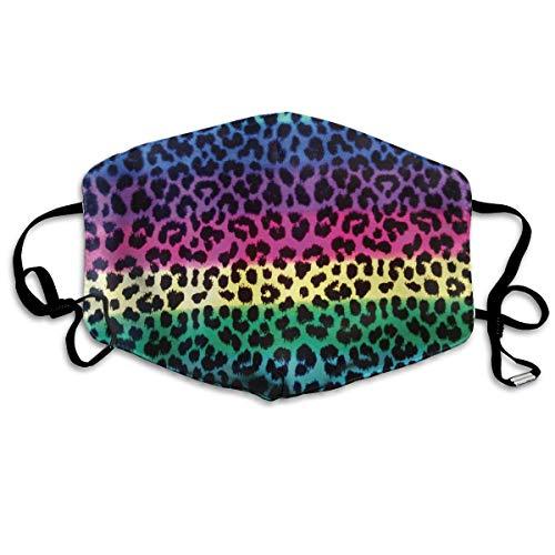 Masken für Erwachsene Waschbare wiederverwendbare MundMaskene Colorful Cheetah Leopard Reusable Anti Dust Face Mouth Cover Masken Protective Breath Healthy Safety