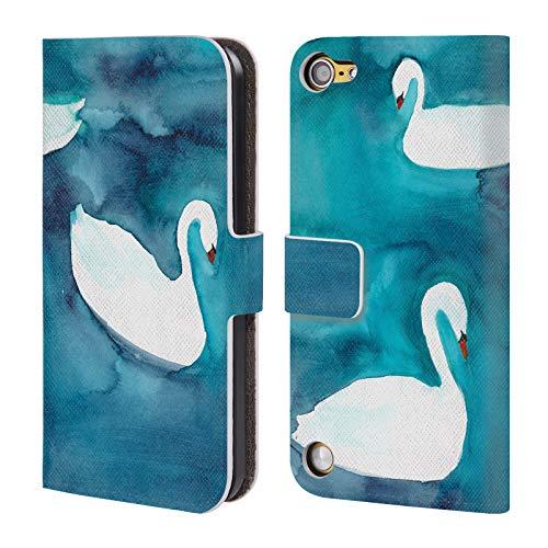 Head Case Designs Offizielle Mai Autumn Schwaene Tiere Brieftasche Handyhülle aus Leder für Touch 5th Gen/Touch 6th Gen (Tiere Mais-schale)