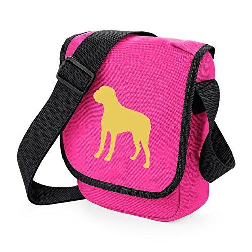 Bag Pixie ,  Unisex-Erwachsene Umhängetaschen Fawn Dog Pink Bag