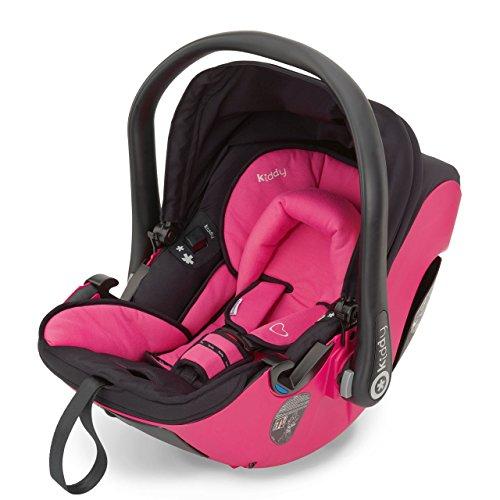 Preisvergleich Produktbild Kiddy 41920EV052 Evolution Pro 2 Babyschale, patentierte KLF-Liegefunktion, Isofix-fähig, Gruppe 0+ (0-13 kg, Geburt-ca. 15 Monate), Pink