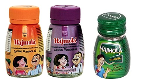 Dabur Hajmola Regular, Imli & Pudina (Spearmint) Digestive 120 Tablets 66g – (Ha...