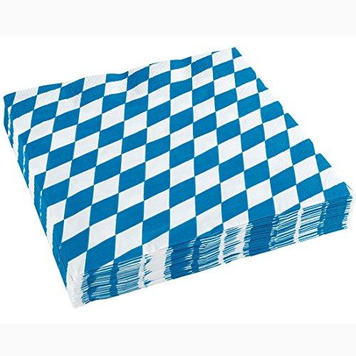 Oktoberfest Servietten Bayern Papierservietten 20 Stk. Wiesn Motivservietten Bierzelt Party Dekoservietten Partyservietten Tischdeko Tisch Deko Papier Bayernraute Partydeko Bayrisch