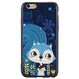 iPhone Hülle, Hozor Dünne Weiche TPU Silikon Handyhülle Schutztasche Back Cover Gemalt Geprägt Muster Schutzhülle Etui für Apple iPhone 6 / 6S, 4.7 zoll - Blaue Eichhörnchen