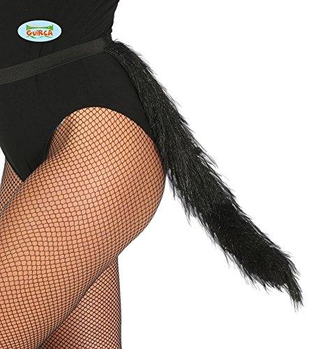 anz Schwanz für Damen Karneval Fasching Party schwarz Katze (Katze Ohren Und Schwanz Kostüm Set)