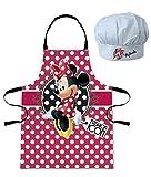 Schürze und Kochmütze, Minnie Disney–Kinder 1Mädchen 3/8jahre–952