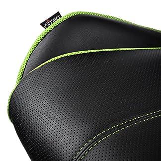 Nitro Concepts E200 Race Asiento Acolchado Respaldo Acolchado – Silla (Asiento Acolchado, Respaldo Acolchado, Negro, Verde, Negro, Verde, Imitación Piel, Imitación Piel)
