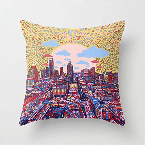 Shanzhi Austin Texas City Skyline Überwurf Kissen Kissenbezug Fall, Polyester, Einfarbig, 40 x 40 cm