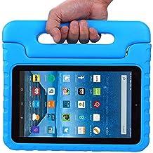 emontek Kindle Fire 7Funda, Fire 72015Case, Kids Prueba de Golpes Convertible Mango Peso ligero–Stand–Carcasa protectora para tablet con pantalla de 7pulgadas (2015Release Only) azul azul
