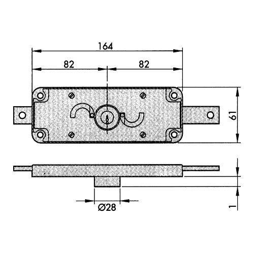 Aga Mechanisches Sicherheitsschloss Metall 184