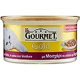 Gourmet Gold Dadini di vitello in salsa con verdure - Cibo per Gatti - 85 gr