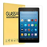 iThrough Fire HD 8 Screen Protector(7th Generation, 2017), Tempered Glass Screen Protector Film for All-New Fire HD 8 Tablet, HD Clear Bubble Free 9H Hardness Screen Protector[One Piece]