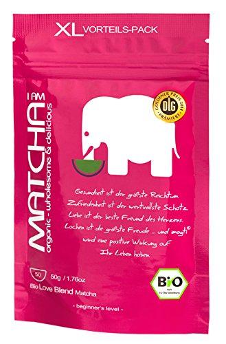 50g XXL imogti LOVE BLEND BIO Matcha – Gold Prämiert 2014 – original Matcha zum Trinken und für die private Teezeremonie