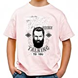 Look me in the beard Cool Party Kids Shirt_pink_122 / 128