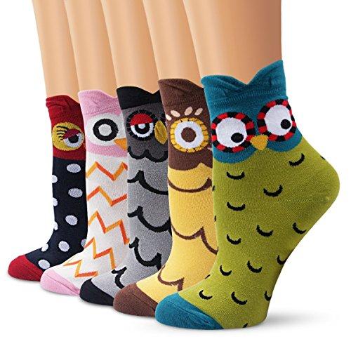 Lj sport calzini in cotone con disegno di animali in stile cartoni