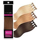 ELEGANCE-HAIR® Bonding Extensions 20x 1g Echthaar-Strähnen Keratin Haarverlängerung 50cm Glatt #6 - Chestnut Brown - Kastanien-Braun