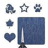 5 PCS Lederpolster Eisen auf Reparatur Patches, Eisen auf No-Sew Denim Patches für Jeans Arts Crafts DIY Kleidung, Sortiert Baumwolle Jeans Reparatursatz