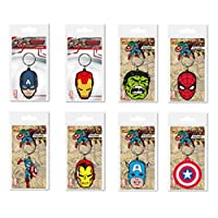 Toys & Gamers Set of 8 x Famous Cartoon Movie Key Rings Key Chains Perfect Party Bag Fillers (Super Heros)