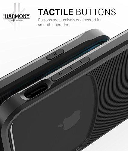 "iPhone 7 Plus hülle, Vena [Harmony] Welle Textur [Hybride Klar Zurück Platte][CornerGuard Fallen Beweis] Slim Fit schutzhülle Case Cover für Apple iPhone 7 Plus (5.5"") - Schwarz (Jet Schwarz) Schwarz"