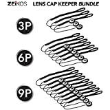 Zeikos 9 Pack Lens Cap Leash Lens Cap Keeper Holder Prevent Lens Cap Lost For DSLR SLR Camera Canon, Nikon, Sony, Panasonic, Fujifilm Camera And More