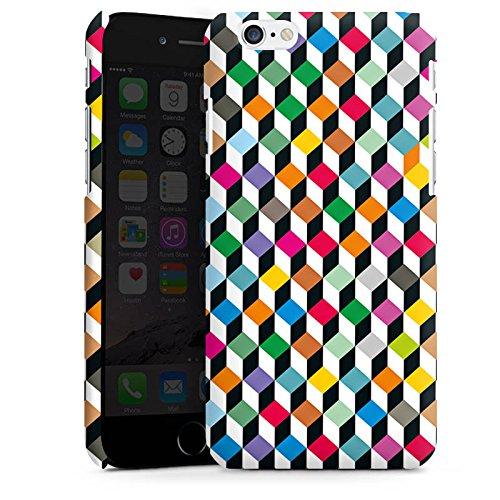 Apple iPhone 6 Housse Étui Silicone Coque Protection Dé couleurs Effet d'optique Cas Premium mat