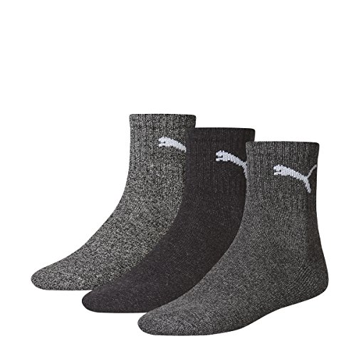 PUMA Short Crew Unisex - 6 Paar Socken anthracite/grey 39/42 (Casual Crew-socken)
