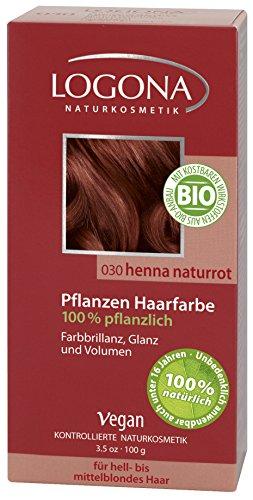 LOGONA: LOGONA Color del pelo herbal henna natural rojo (100 g)