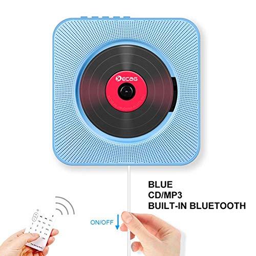 Bluetooth Portable CD Player, Chidi Toy Wall, Bluetooth CD Music Player mit HiFi Speaker Home Audio Speaker mit Remote FM Radio, MP3, 3.5mm Kopfhörer, AUX Input /Output (Blau) (Videos Training Senior)