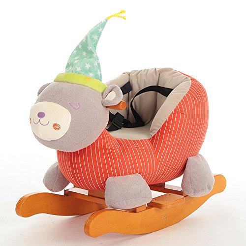 Unbekannt GOUO@ Kinderschaukelpferd Musical Baby Fahrt Auf Spielzeug Kinder Schaukelstuhl Massivholz Tier Rocker Geschenk Für 0-3 Jahre Alt