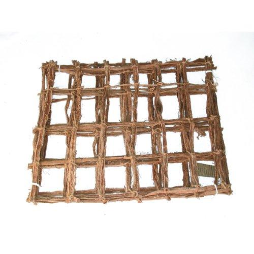 Mammutgeflecht natur 100 x 40 cm - Kletternetz für Chamäleons - Inhalt 0,4 qm / Grundpreis 17,25 €/qm