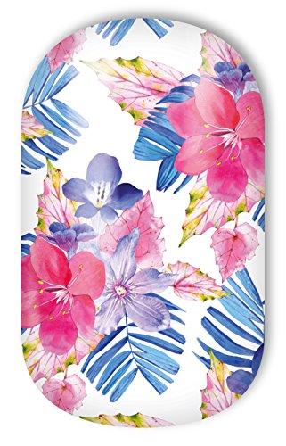 Miss Sophie's pink-blau-lila Nagel-Folien Waikiki Babe: Nagel-Design / Nailart/Aufkleber: 20 Nail Wraps: ultra-dünn einfach schnell selbstklebend langanhaltend / Besser als Nagellack / Gel-Lack (Design Babe)