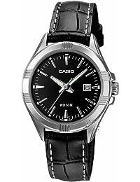 CASIO LTP-1308L-1AVEF - Reloj de mujer de cuarzo, correa de piel color negro