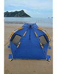 Joryn Tienda de playa 235X135X119cm Playa del Refugio protección UV color Azu
