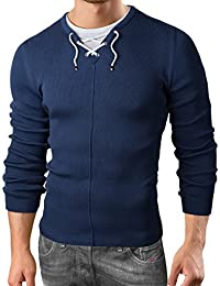 Grin&Bear slim fit Herren Strickpullover in 2in1 Optik GEC300